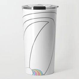 Unicorn,letters,a,b,c,personalised gift ideas  Travel Mug