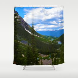 Looking over lower Geraldine Lakes in Jasper National Park, Canada Shower Curtain