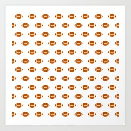 Texas longhorns orange and white university college texan football pattern Art Print