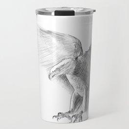 Eagle - pencil drawing Travel Mug