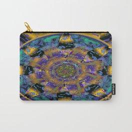 Purple Gold Dream Catcher Mandala Carry-All Pouch