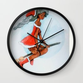 Mrs claus Wall Clock