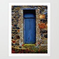 The Blue Door of Ballymascanlon Art Print