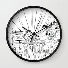 Mushroom Wonder Land Wall Clock