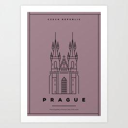 Minimal Prague City Poster Art Print