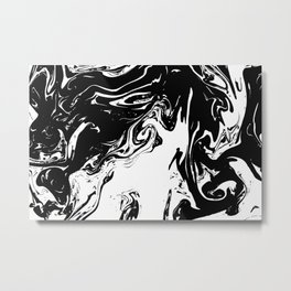 Black liquid ink Metal Print
