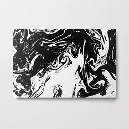 Black liquid ink Metal Print