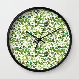 Shamrock and Clover Field Wall Clock