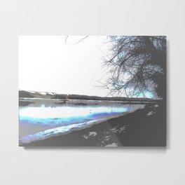 south saskatchewan river, saskatoon, saskatchewan, canada Metal Print