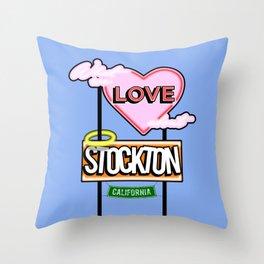 Stockton Love (with bkg) Throw Pillow