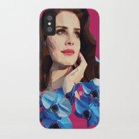 lana del rey iPhone & iPod Cases featuring Del rey by Jesus Servin