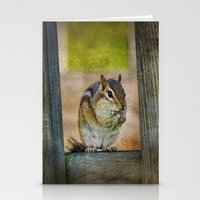vermont Stationery Cards featuring Vermont Chippy by Deborah Benoit