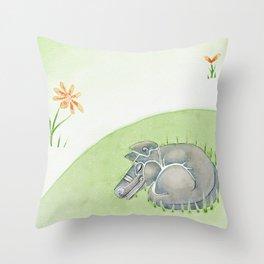 Tobias the dog. Throw Pillow