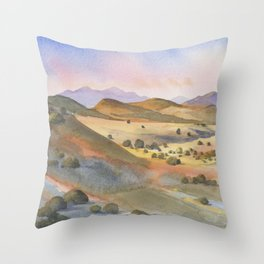 The Foothills of Sierra County Throw Pillow