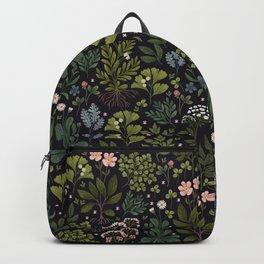 Herbarium ~ vintage inspired botanical art print ~ black Backpack