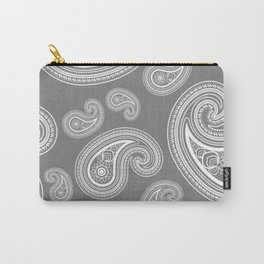 Silver paisleys Carry-All Pouch