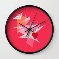 valentines Wall Clocks featuring Valentines Abstract by secretgardenphotography [Nicola]