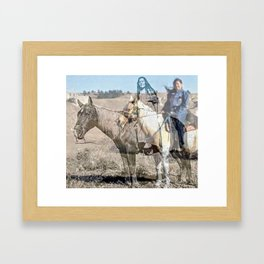 She never rides alone Framed Art Print