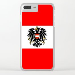 Austrian Flag and Coat of Arms Clear iPhone Case