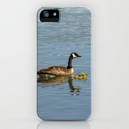 Goose and Gosling iPhone Case