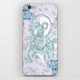 space monkey iPhone Skin