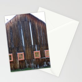 Rustic Old Country Barn Stationery Cards