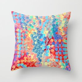 Blue Circle Pattern Throw Pillow
