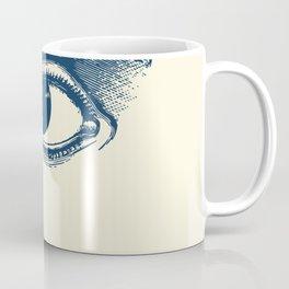 I see you. Navy Blue on Cream Coffee Mug