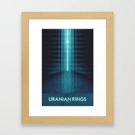 Uranus - Uranian Rings Framed Art Print