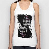 psycho Tank Tops featuring psycho by arTistn