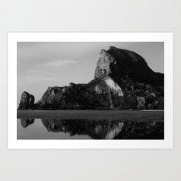 Rock Face Reflection Art Print