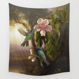 Sparkling Violetear Hummingbirds Wall Tapestry