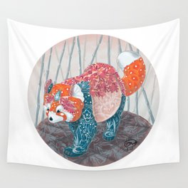 """ Red Panda "" by Teresa Ball ( TBall ) Wall Tapestry"