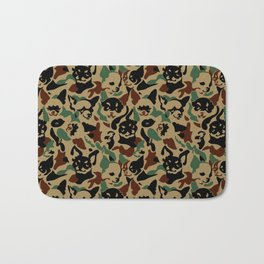 Chihuahua Camouflage Bath Mat