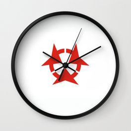 oita region flag japan prefecture Wall Clock