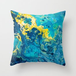 Waves from Space Throw Pillow