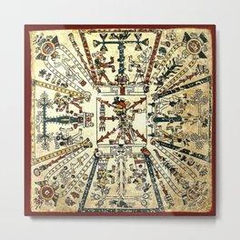 Aztec Collection: God Xiuhtecuhtli Metal Print