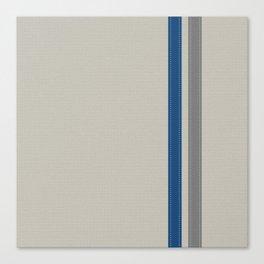 Blue & Grey Stripe Canvas Print