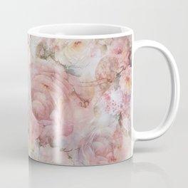 Vintage elegant blush pink collage floral typography Coffee Mug