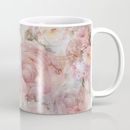 Vintage elegant blush pink collage floral typography Coffee Mug