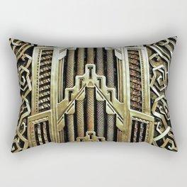 Metallic art nouveau design, vintage,elegant,chic,art nouveau, belle epoque,beautiful,gold,metallic, Rectangular Pillow