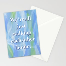Walking Each Other Home - Ram Dass (blue) Stationery Cards