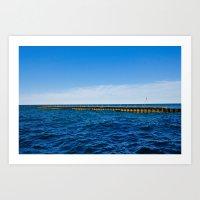 Pier on the Lake Art Print