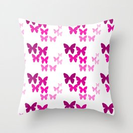 Pink Butterfly Wings Throw Pillow