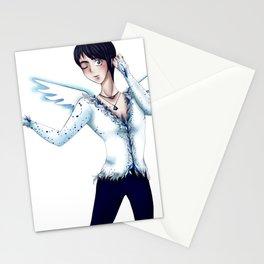 Ice Skater Katsuki Stationery Cards
