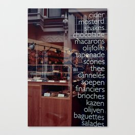 At the bakers Canvas Print