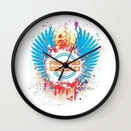 Fishing Squad Graphic Wall Clock