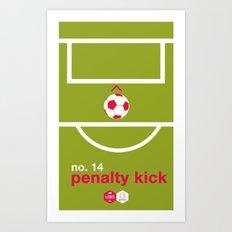 Penalty Kick (No.14) Art Print