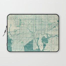 Tampa Map Blue Vintage Laptop Sleeve
