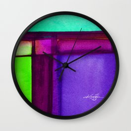 Color Block 4 by Kathy Morton Stanion Wall Clock